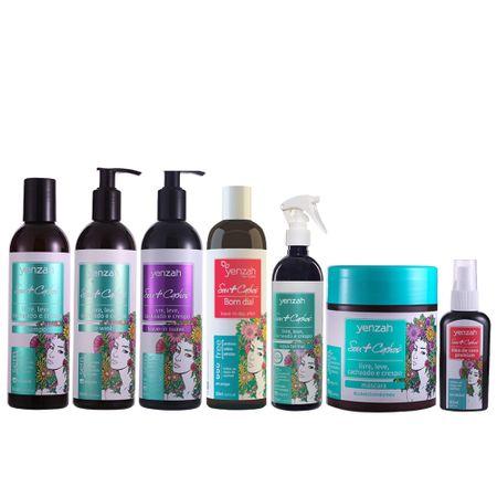 Kit-Sou-Cachos-shampoo-condicionador-co-wash-leave-in-suave-leave-in-bom-dia-agua-termal-mascara-e-oleo-de-coco