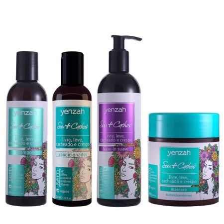 Kit-Yenzah-Sou-cachos-shampoo-condicionador-leave-in-suave-e-mascara